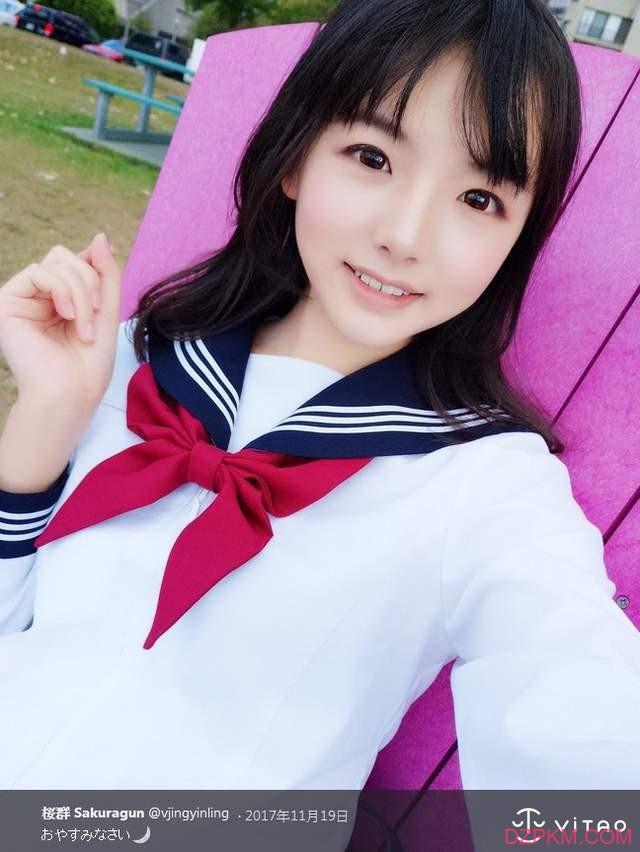 网络正妹樱群Sakuragun 可爱制服照片散发着甜美小清新