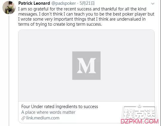 """一周要闻丨Patrick Leonard分享成功秘诀;Alexgirs冠军PS春季赛;""""奶爸""""WPT夺冠"""
