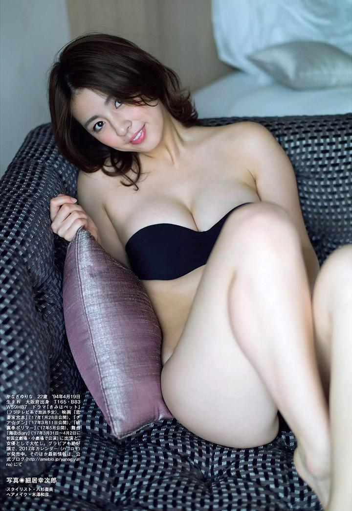 柳百合菜新写真集突破极限 半透明浴帘后全裸拍摄