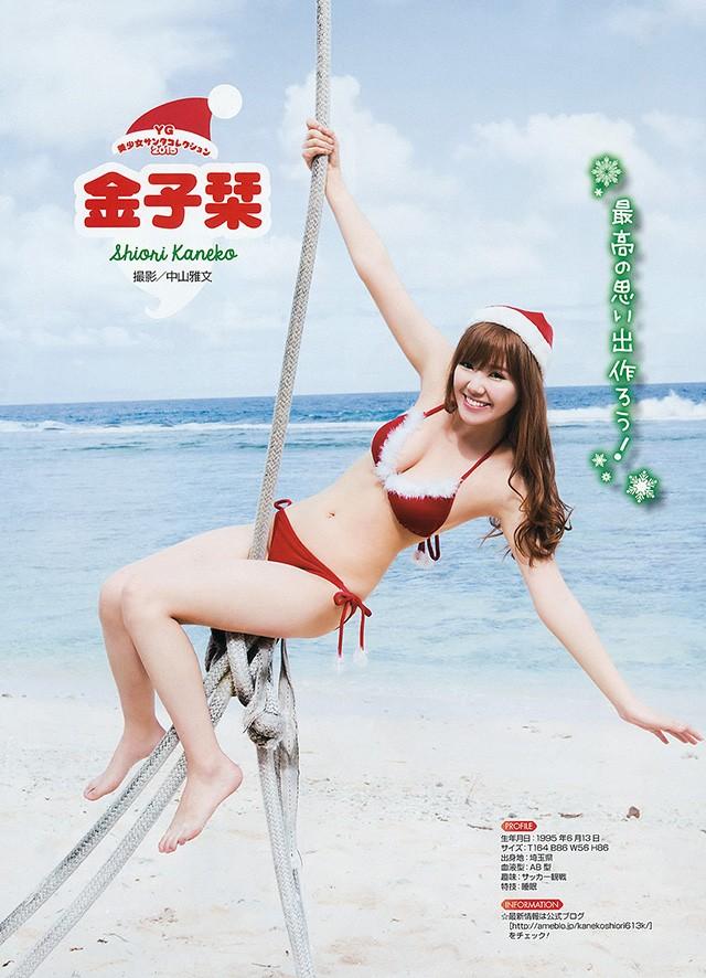 圣诞装写真特集 清新偶像性感巨乳都能打满分