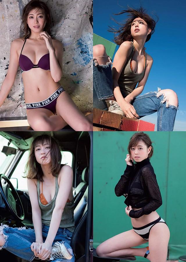 周末天气女郎大川蓝 以甜美笑容诱惑事业线治愈男性