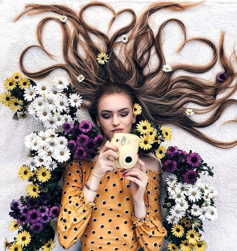 """真人版""""长发公主""""Krissy Elisabeth """"魔发美女""""创意美发造型拍照"""