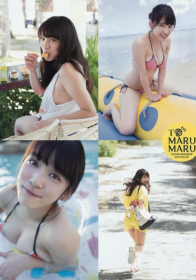 都丸纱也华展示18岁糖度无限大 甜美笑容及性感F奶
