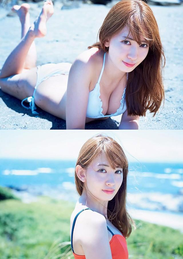 小嶋阳菜穿上性感比基尼 和你一起渡过火辣夏天