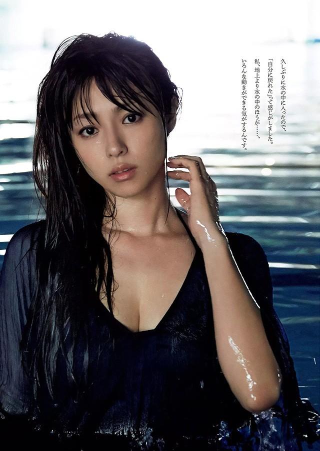 深田恭子33岁前在水中湿身透视 展现不经意的性感诱惑