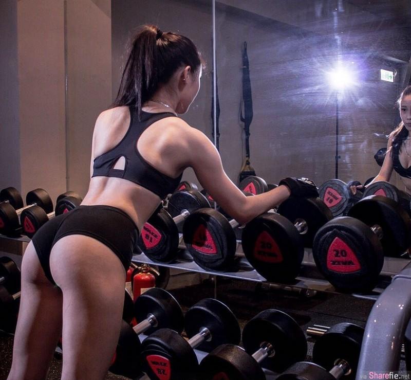 超辣私人健身教练Alisa 健美女强人凹凸有致性感迷人
