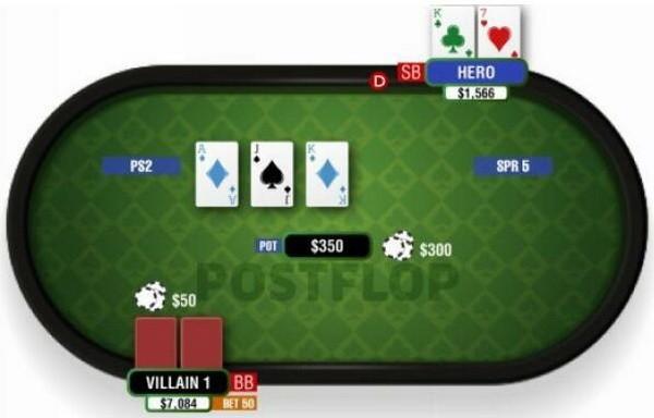 德州扑克中对-2