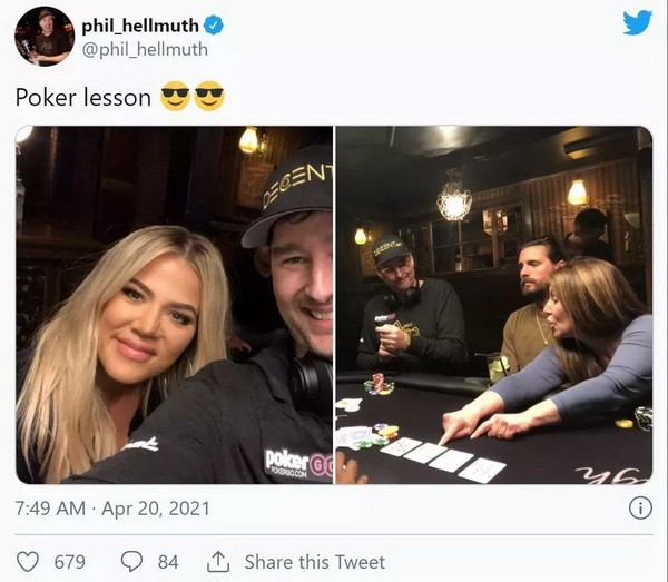 蹭热点?Hellmuth给卡戴珊上扑克课 Polk翻旧账暗讽土豪丹在2018年出售比特币行为