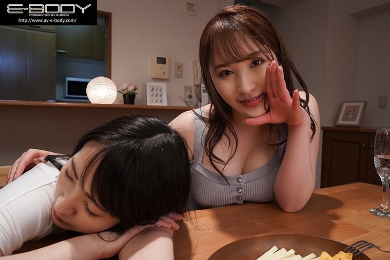 """EBOD-829:巨乳姐姐""""北野未奈""""低语淫语贴身奶诱惑妹妹的男友中出!"""